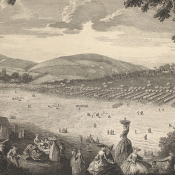 View of encampment at Newport, Isle of Wight, 1740 (Newport, Isle of Wight, UK) 50?42'05