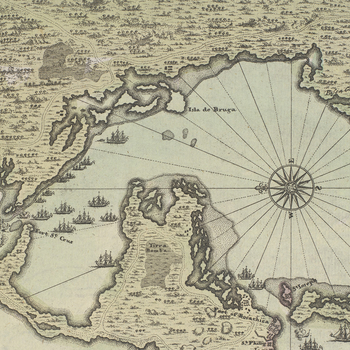 Map of Cartagena, 1741 (Cartagena, Bolivar, Colombia) 37?36'18