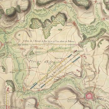 Map of Eger [Egra], 1742 (Cheb, Karlovarsky Kraj, Czech Republic) 50?04'46