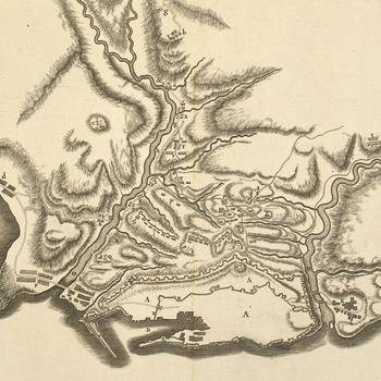 Map of Genoa, 1747 (Genoa, Liguria, Italy) 44?24'22