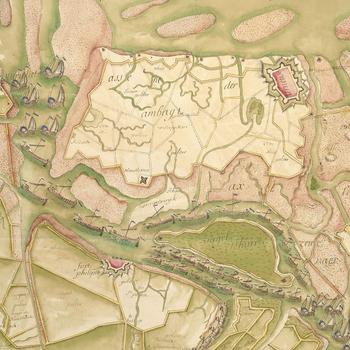 Map of Sas van Gent, 1748 (Sas van Gent, Zeeland, Netherlands) 51?13'39