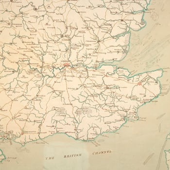 Map of England, South East, 1755