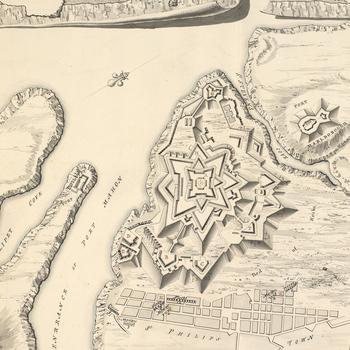 Plan of St Philips, 1756 (Sant-Felip, Port Mahon, Minorca, Balearic Islands) 39?52'01
