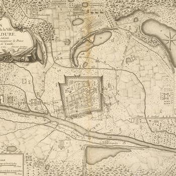 Map of Madura, 1763-4 (Madurai, Tamil N?du, India) 09?56'00