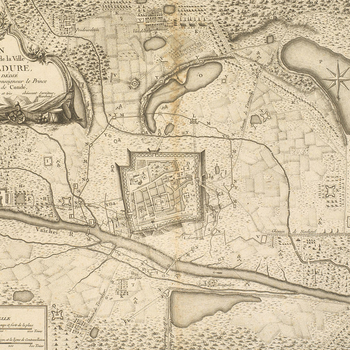 Map of Madura, 1763-4 (Madurai, Tamil N?du, India) 09?56'00