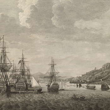View of Gibraltar, 1780 (Gibraltar, British Overseas Territory) 36?08'00