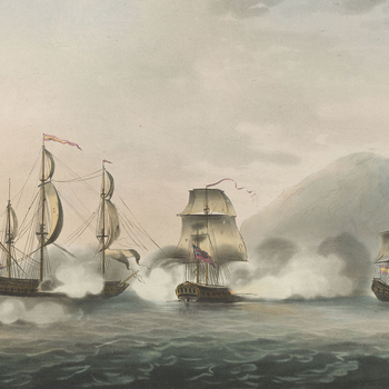View of Gibraltar, 1782 (Gibraltar, British Overseas Territory) 36?08'00