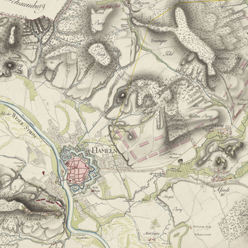 Item: Map of encampment near Hameln, 1783 (Hameln, Lower Saxony, Germany) 52?06'14