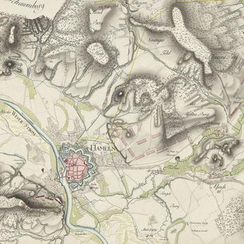 Item: Map of encampment near Hameln, 1783 (Hameln, Lower Saxony, Germany) 52?06'14