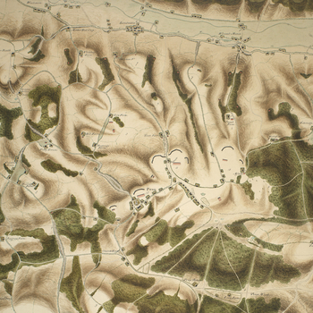Item: Map of encampment near Penn, 1800 (Penn, Buckinghamshire, England, UK) 51?37'52