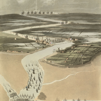 View of the Scheldt estuary and Antwerp, 1809 (Westerschelde, Netherlands) 51?24'06