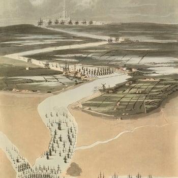 View of the Scheldt estuary and Antwerp, 1809 (Westerschelde, Netherlands) 51?24'06