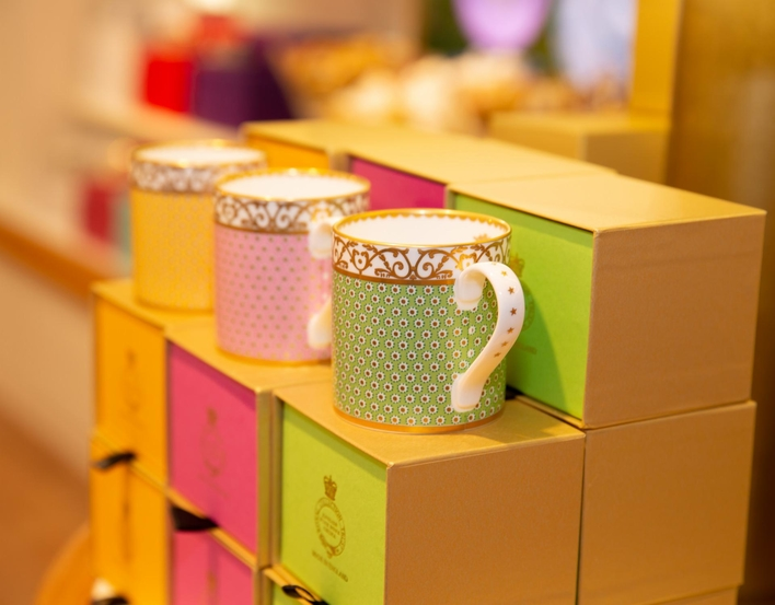 China Mugs on display